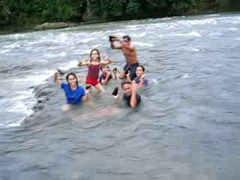 tsukino lyn bathing at river