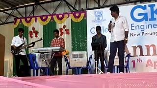 GKMCET Annual Day 2015 guest performance - Gana Ulaganathan Sir