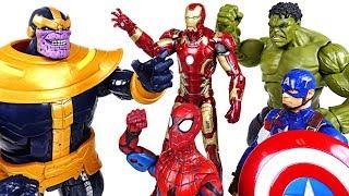 Thanos appeared! Go! Marvel Avengers Infinity War: Hulk, Spider Man, Iron Man! - DuDuPopTOY