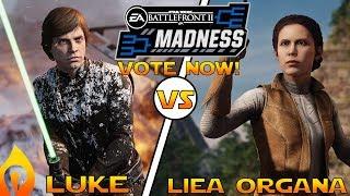 Luke Skywalker vs Leia Organa - Cast Your Vote for Your Favorite Hero in Star Wars Battlefront 2!