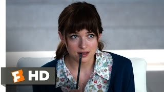 Fifty Shades of Grey (1/10) Movie CLIP - A Little Curious (2015) HD