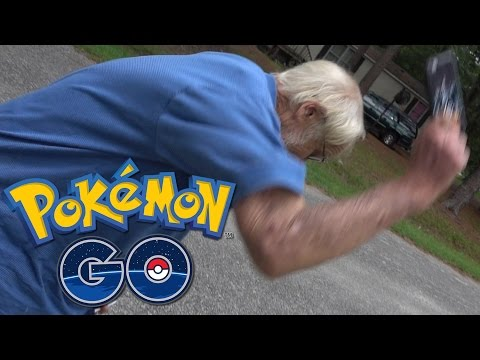 Angry Grandpa Plays Pokémon GO! (Destroys iPhone!)