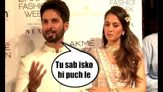 Shahid Kapoor ANGRY As Mira Rajput Gets More Attention At Lakme Fashion Week 2018