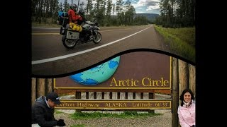 Alaska by Motorcycle father and daughter