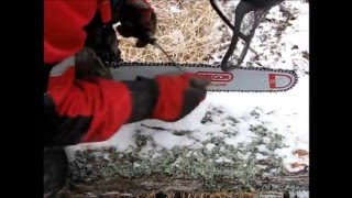 How to sharpen a chainsaw by hand