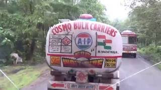 Dangerous Indian highway VOLVO bus driving