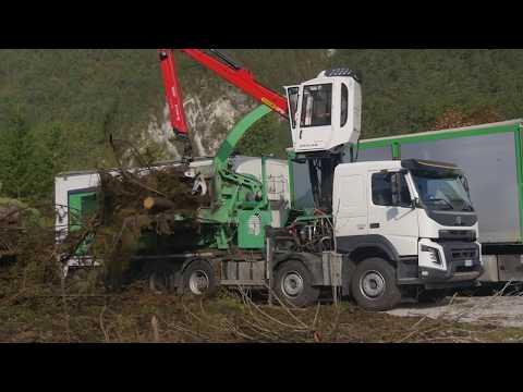 Xxx Mp4 PTH 1400 1000 M Pezzolato Drum Wood Chipper Drivem By CATERPILLAR C18 Motor 3gp Sex