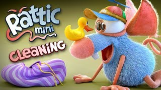Funny Cartoon   Rattic Mini – Cleaning   Funny Cartoons For Children & Kids   Funny Kids Videos