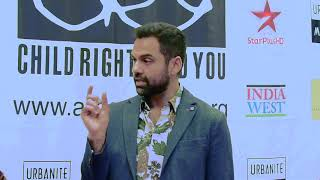 Showbiz India interviews Abhay Deol for the CRY Foundation 2018