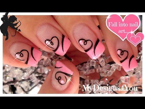 Дизайн ногтей ко дню влюбленных