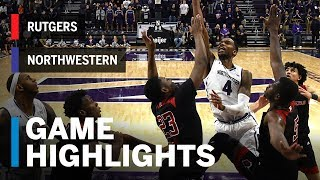 Highlights: Rutgers at Northwestern | Big Ten Basketball