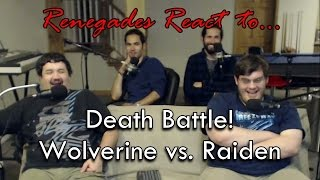 Renegades React to... Death Battle! Wolverine vs. Raiden