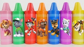 Lets play with paw patrol crayons