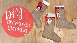 DIY No Sew Burlap Christmas Stocking
