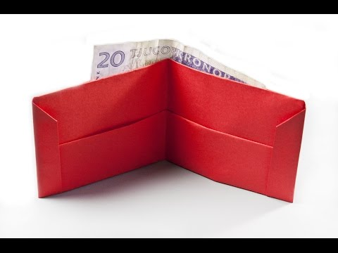 How to make a paper wallet |  Origami wallet | Easy origami