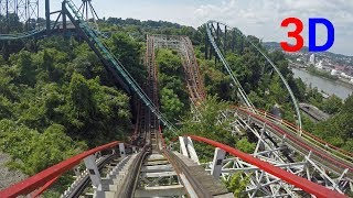 Thunderbolt 3D front seat on-ride HD POV @60fps Kennywood