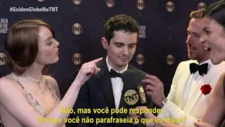 #GoldenGlobeNaTNT | Entrevista com Emma Stone, Damian Chazelle e Ryan Gosling