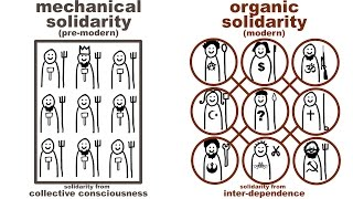 Durkheim's Mechanical and Organic Solidarity: what holds society together?