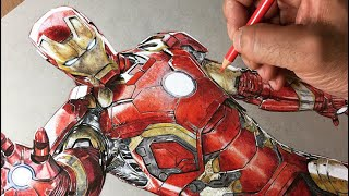 Speed Drawing: Iron Man - Avengers Timelapse | Artology