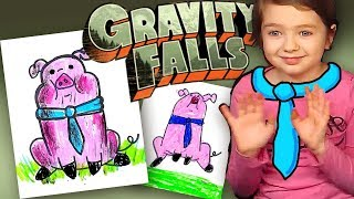 How to draw Waddles Gravity Falls