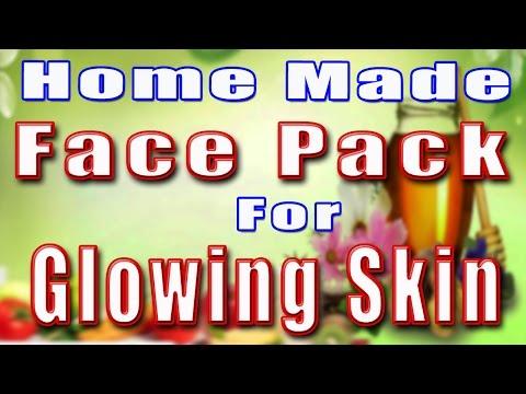 HOME MADE FACE PACK FOR GLOWING SKIN II चमकदार त्वचा के लिए घर का बना फेस पैक II