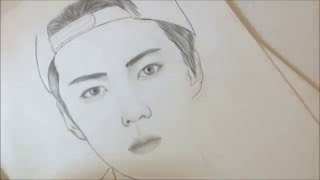 Exo 엑소 - Sehun 세훈 speed drawing