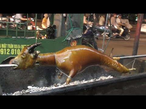 Cooking FULL GOAT in Vietnam Crispy Roast BBQ whole GOAT Vietnam street food