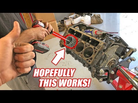 Dingleberry Honing the Auction Corvette s NEW Junkyard Truck Engine McFarland Machining
