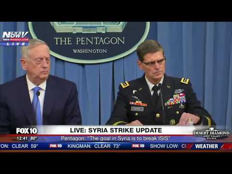FULL Mad Dog Mattis Gives Update To Syria Strikes. Warns Assad Of Future Attacks