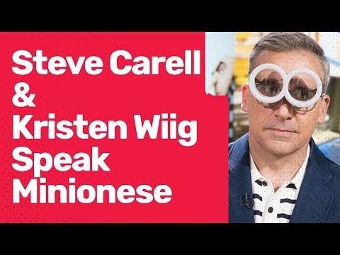 Despicable Me 3 Stars Steve Carell and Kristen Wiig Quiz Each Other in Minionese