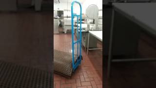 Inside a meat room in shop n save grocery store