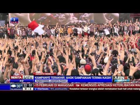 Ahok-Djarot Tutup Masa Kampanye dengan Pesta Rakyat