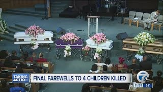Funeral held for four children murdered in Dearborn Heights