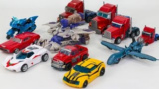 Transformers Prime Optimus Prime Bumblebee Megatron Arcee Ironhide Truck 11 Vehicle Robot Car Toys