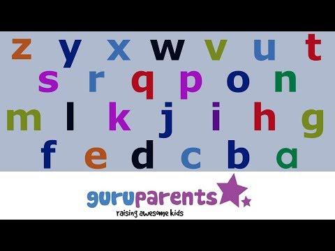 Learn how to say the alphabet backwards -- teach kids their ZYX!
