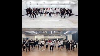 방탄소년단 '불타오르네 (FIRE)' Dance Practice cover dance 比較動画 by 爆弾少年団(japanese girls)