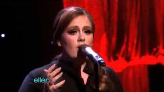 Adele Someone Like You On Ellen DeGeneres Show Brit Winnner Adele Sings Someone Like You