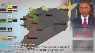 5 Years of War in Syria in 5 minutes [2016]
