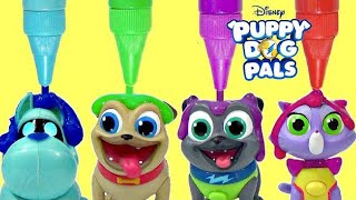 Disney Jr. PUPPY DOG PALS, Pals On a Mission Rolly, Bingo, Hissy, A.R.F. Bath Paint IRL / TUYC