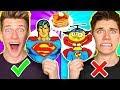 PANCAKE ART CHALLENGE Mystery Wheel 3 & How To Make Avengers Captain Marvel & Shazam Diy Art