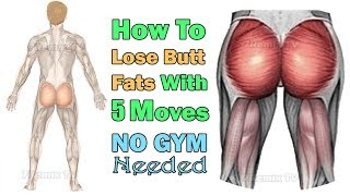 How to Lose Butt Fat for Men Easily with 5 Best Moves Anywhere, NO GYM needed!