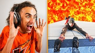 REACTING TO THE FLOOR IS LAVA CHALLENGE!