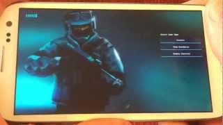 Counter Strike for Android Gameplay in Samsung Galaxy S3