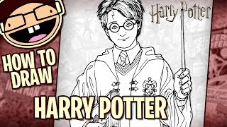 How to Draw HARRY POTTER (Harry Potter Movie Series) | Narrated Easy Step-by-Step Tutorial