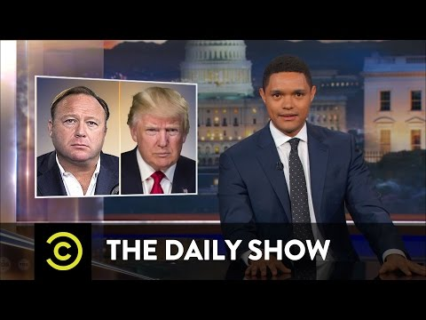 Alex Jones Conspiracy Pusher or Performance Artist The Daily Show