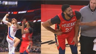 Blake Griffin Almost Injures Anthony Davis After Both Collide! Pelicans vs Pistons