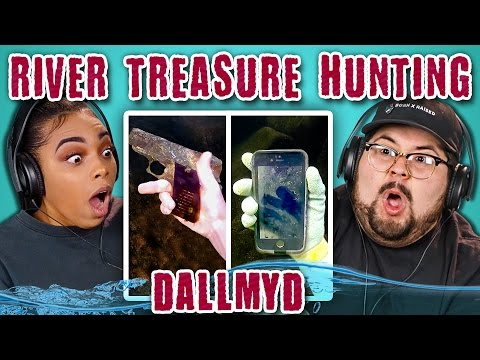 College Kids React to River Treasure Hunting Finding iPhones Human Remains Murder Weapons