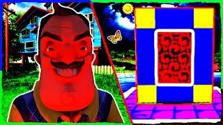Minecraft HELLO NEIGHBOR - How to Make a Portal to ALPHA 4