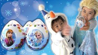 FROZEN surprise eggs サプライズエッグ アナと雪の女王 チョコエッグ こうくんねみちゃん Anna