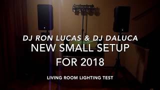 DJ gig equipment, new small setup